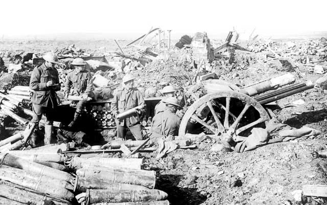 Australian 18 Pounders at Ypres 1917